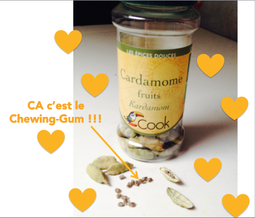cardamome chewing gum