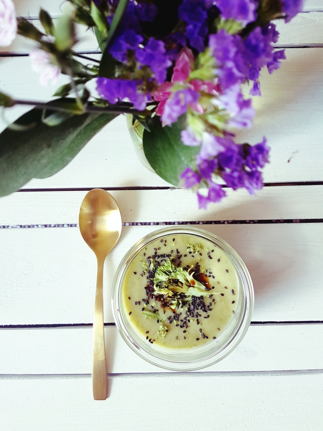 velouté vegan brocoli et courgette