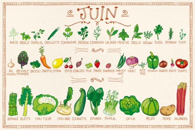 fruits et l gumes de saison mois de juin eat me veggie. Black Bedroom Furniture Sets. Home Design Ideas