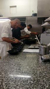 En plein dressage du risotto de celeri