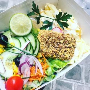 caesar salad vegan bowl